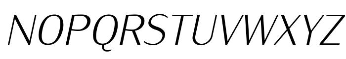 IwonaCondLight-Italic Font UPPERCASE