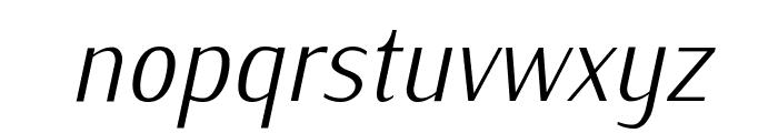 IwonaCondLight-Italic Font LOWERCASE