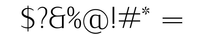 IwonaCondLight-Regular Font OTHER CHARS
