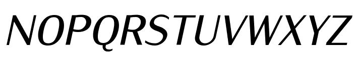 IwonaCondMedium-Italic Font UPPERCASE