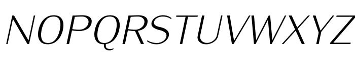 IwonaLight-Italic Font UPPERCASE