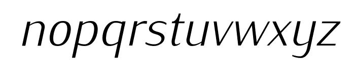 IwonaLight-Italic Font LOWERCASE