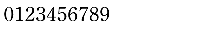 Iwata Mincho Old Medium Font OTHER CHARS