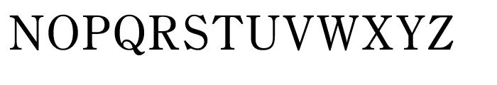 Iwata Mincho Old Medium Font UPPERCASE