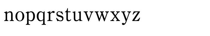 Iwata Mincho Old Medium Font LOWERCASE