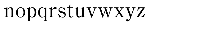 Iwata Mincho Thin Font LOWERCASE