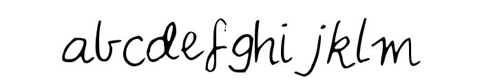 IYSNobodysPerfect Font LOWERCASE