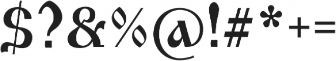 Izhitsa Regular otf (400) Font OTHER CHARS