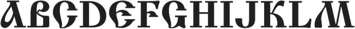 Izhitsa Regular otf (400) Font UPPERCASE