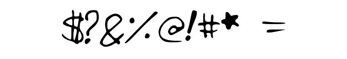 IzzysHandwriting Font OTHER CHARS