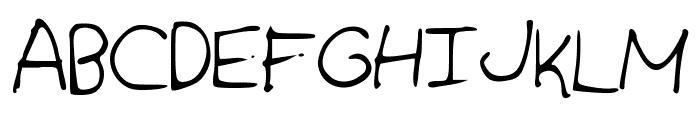 IzzysHandwriting Font UPPERCASE