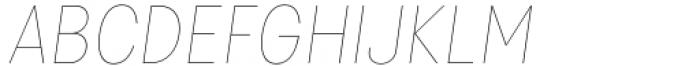 Izmir Narrow Hairline Italic Font UPPERCASE