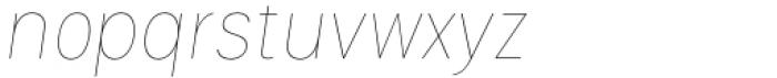 Izmir Narrow Hairline Italic Font LOWERCASE