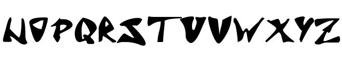 J Random C Font UPPERCASE