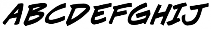 J Scott Campbell Bold Italic Font UPPERCASE