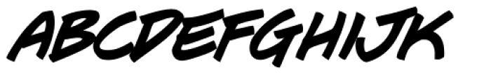 J Scott Campbell Bold Italic Font LOWERCASE