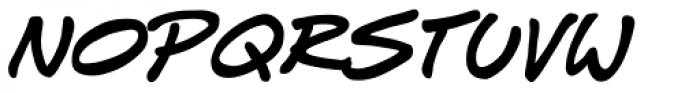 J Scott Campbell Sketchbook Font UPPERCASE