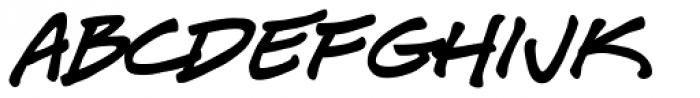 J Scott Campbell Sketchbook Font LOWERCASE