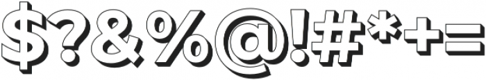 JA Malella Extrude otf (400) Font OTHER CHARS