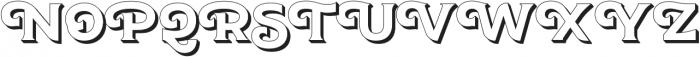 JA Malella Extrude otf (400) Font UPPERCASE