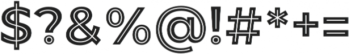 JA Malella Inline otf (400) Font OTHER CHARS