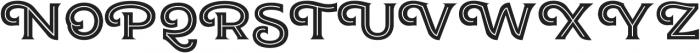JA Malella Inline otf (400) Font UPPERCASE