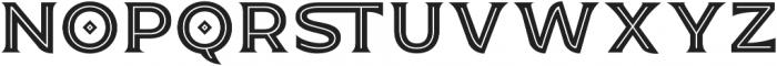 JA Malella Inline otf (400) Font LOWERCASE