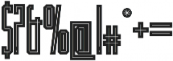 JACKLAND otf (400) Font OTHER CHARS