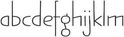 Jabana Alt Extended Thin otf (100) Font LOWERCASE