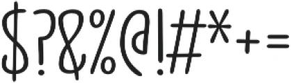 Jabana Alt Wide Regular otf (400) Font OTHER CHARS