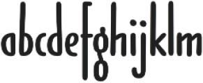 Jabana Extra Extended Bold otf (700) Font LOWERCASE