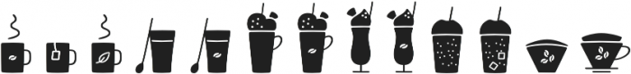 Jabana Extras Cafe Bar Icons Bl otf (900) Font LOWERCASE