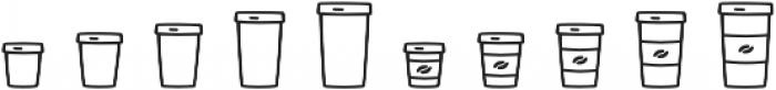Jabana Extras Cafe Bar Icons otf (400) Font OTHER CHARS