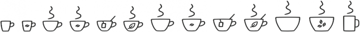 Jabana Extras Cafe Bar Icons otf (400) Font UPPERCASE