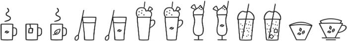 Jabana Extras Cafe Bar Icons otf (400) Font LOWERCASE