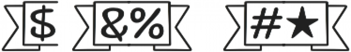 Jabana Extras Catchwords otf (400) Font OTHER CHARS