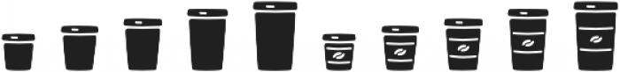 Jabana Extras Coffee Bar Icons otf (400) Font OTHER CHARS