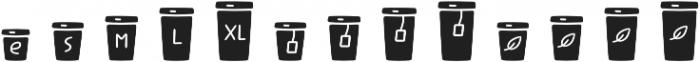 Jabana Extras Coffee Bar Icons otf (400) Font UPPERCASE