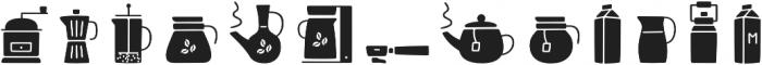 Jabana Extras Coffee Bar Icons otf (400) Font LOWERCASE