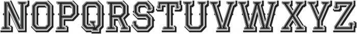 JackRunner otf (400) Font LOWERCASE