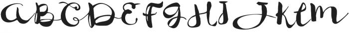 JackSway Regular otf (400) Font UPPERCASE