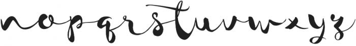 JackSway Regular otf (400) Font LOWERCASE