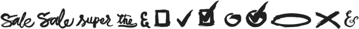 JackSway dingbats ttf (400) Font LOWERCASE