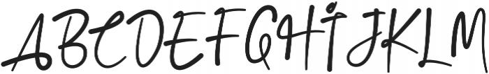 Jacks Script Regular otf (400) Font UPPERCASE