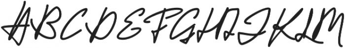 Jackson Script Bold otf (700) Font UPPERCASE