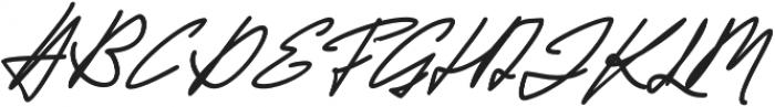 Jackson Script Slant Bold otf (700) Font UPPERCASE