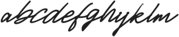 Jackson Script Slant Bold otf (700) Font LOWERCASE