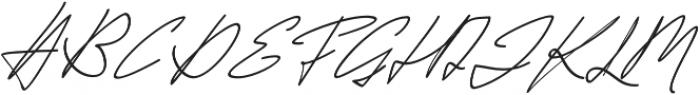 Jackson Script Slant otf (400) Font UPPERCASE