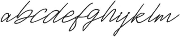 Jackson Script Slant otf (400) Font LOWERCASE