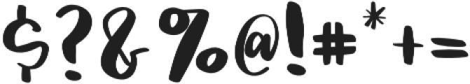 Jackson otf (400) Font OTHER CHARS